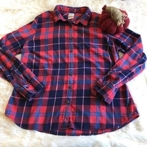 J Crew XL The Perfect Fit Plaid Top